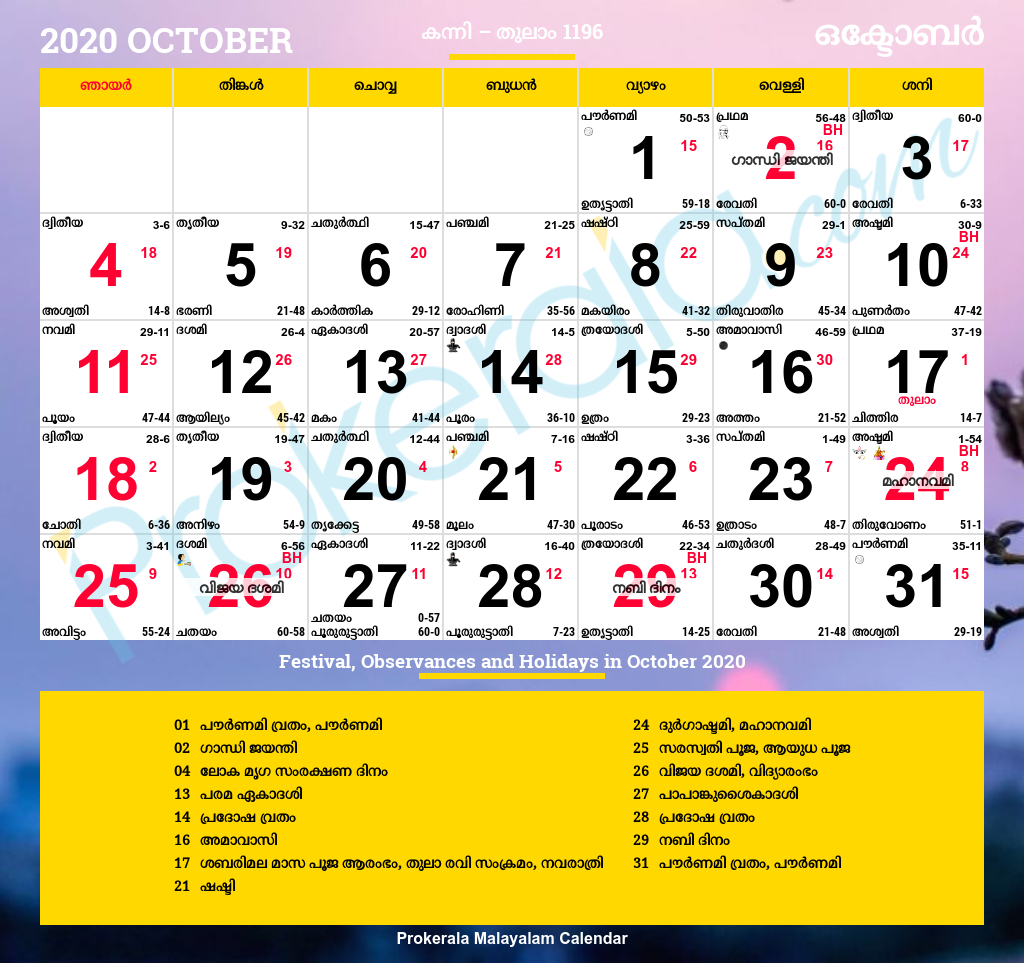Malayalam Calendar 2020 | Kerala Festivals | Kerala Holidays regarding Calendar 2020 September Kerala