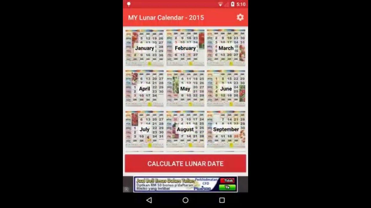 Malaysia Calendar 2016  Lunar V1.2.0  Youtube pertaining to Lunar Calendar Birthday Conversion