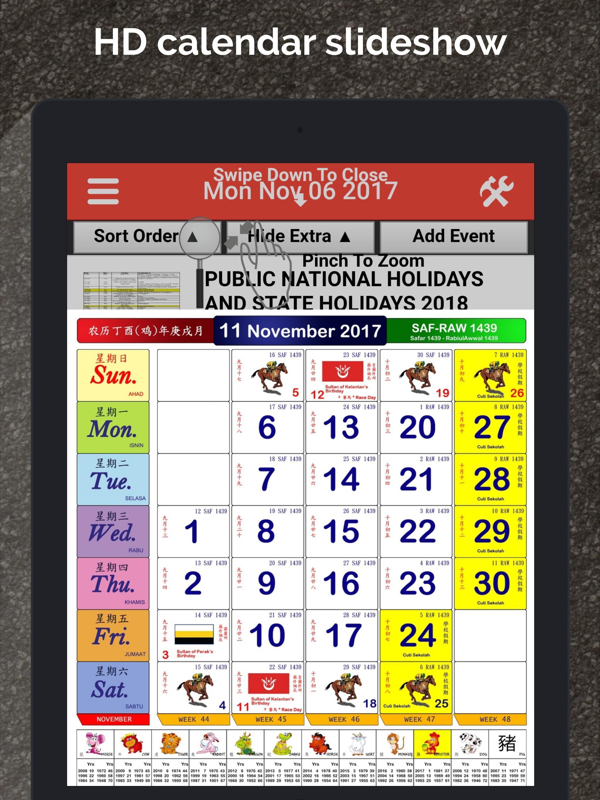 Malaysia Calendar Lunar 2020 Для Андроид  Скачать Apk with Malaysia Kuda Calendar 2020