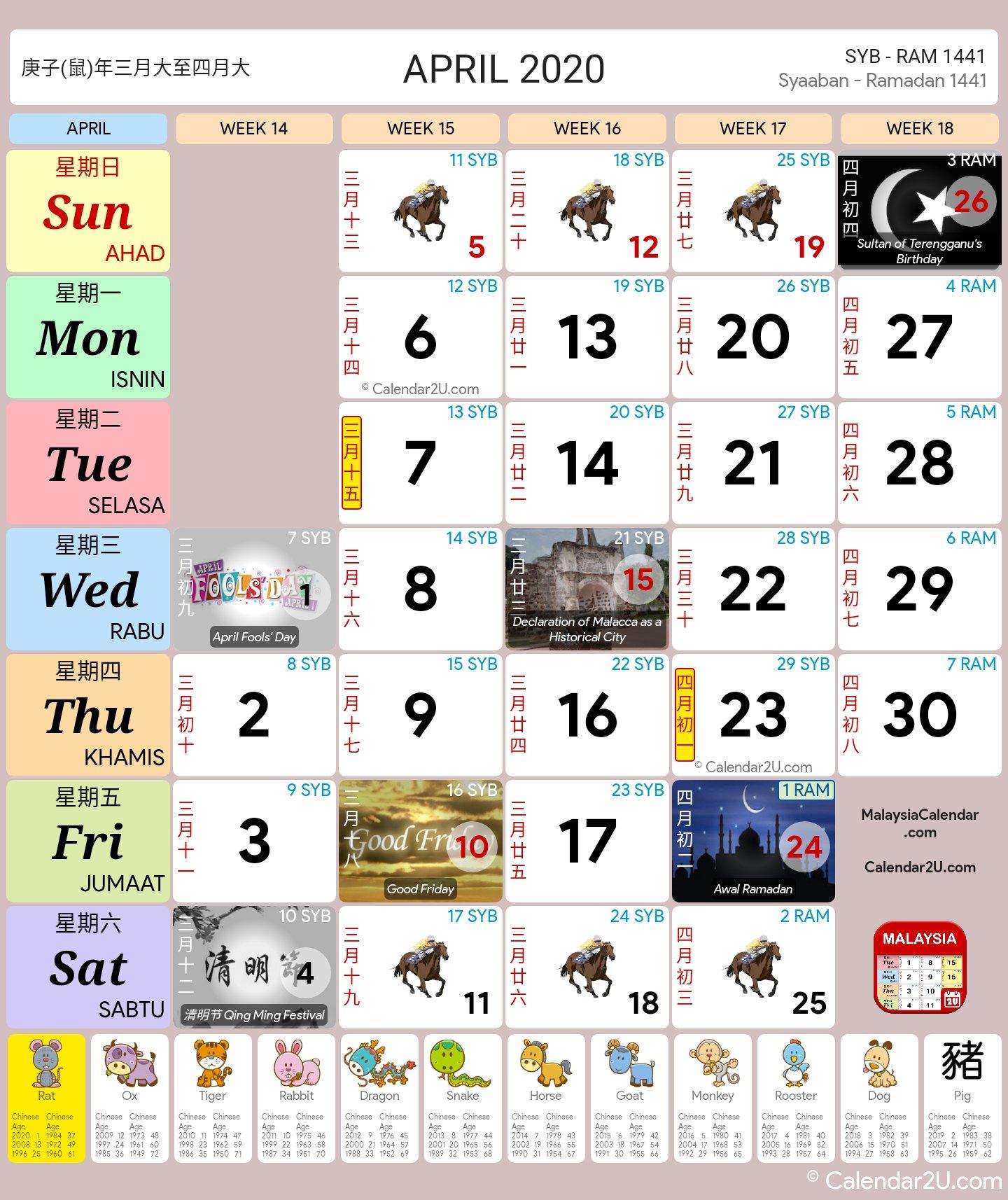 Malaysia Calendar Year 2020 (School Holiday)  Malaysia Calendar with Kalendar Kuda Tahun 2020