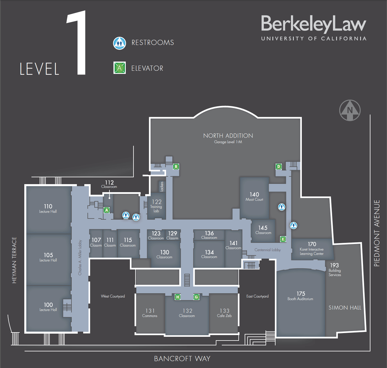 Map Of Boalt | Berkeley Law intended for Berkeley Law Academic Calendar