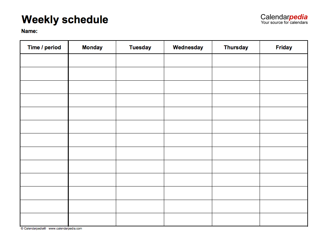 March 2019 Weekly Calendar Templates  Schedule, To Do List throughout Calendarpedia Weekly Schedule