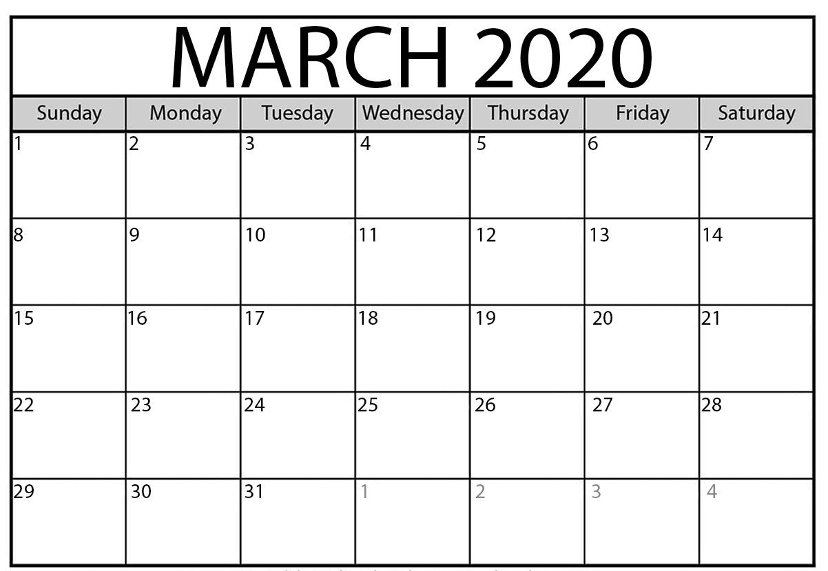March 2020 Calendar with regard to Kalendar Kuda March 2020