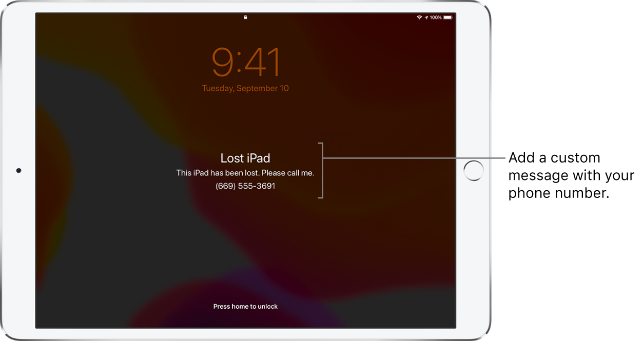 Mark A Device As Lost In Find My On Ipad  Apple Support within Mail Icon Missing Iphone