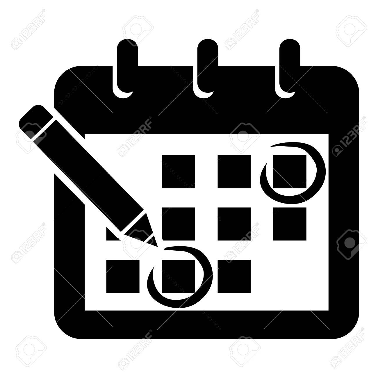 Mark Calendar Icon. Simple Illustration Of Mark Calendar Vector.. inside Icon Calendar Vector