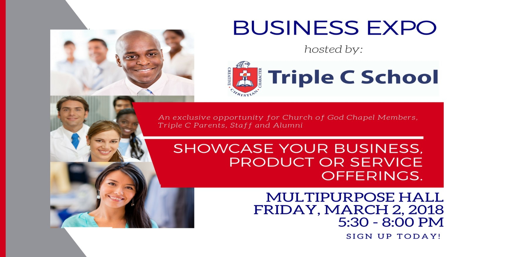 Mark Your Calendar  Business Expo 2018!  Triple C School regarding Triple C School Calendar