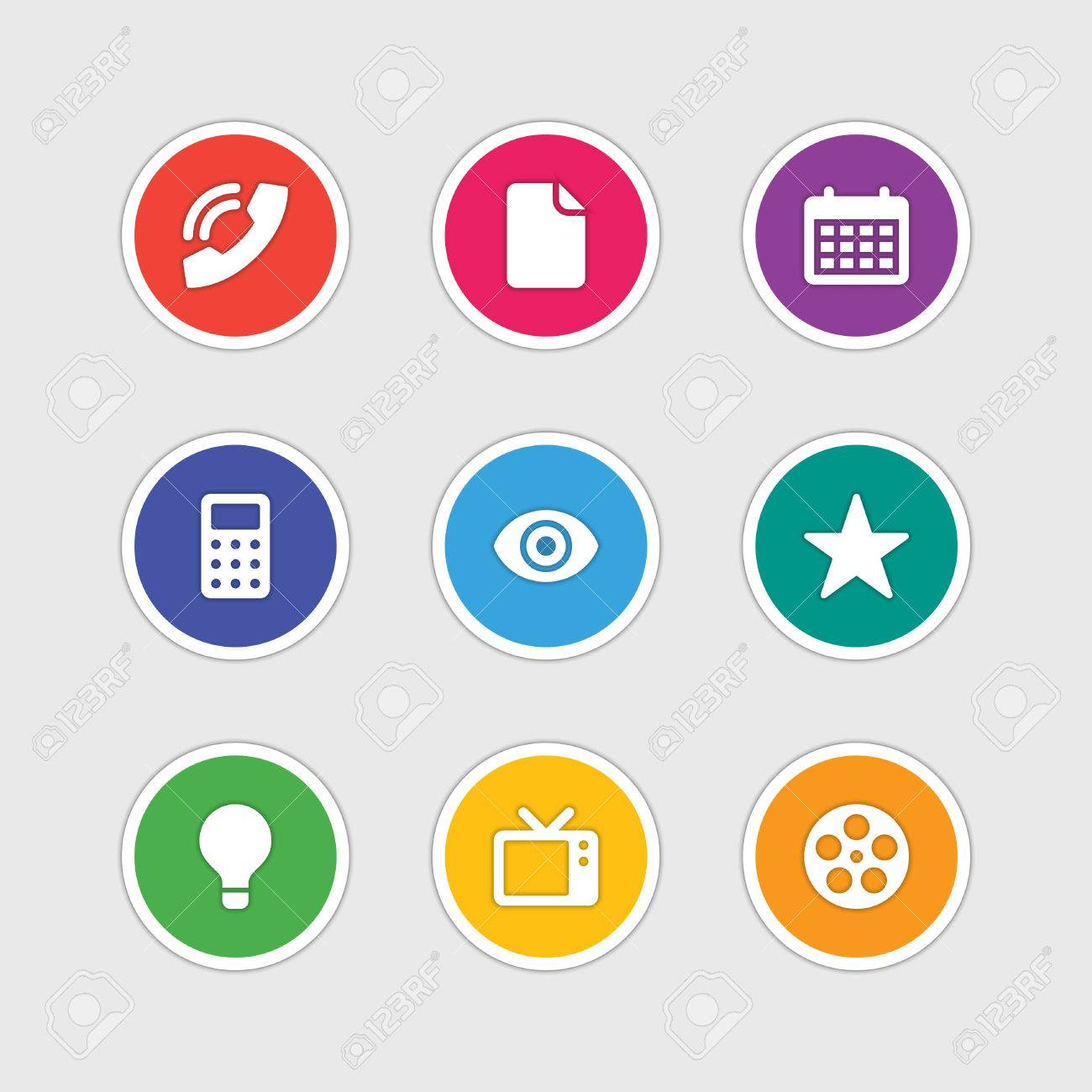Material Design Style Icons Vector Sign And Symbols Document,.. throughout Material Design Calendar Icon