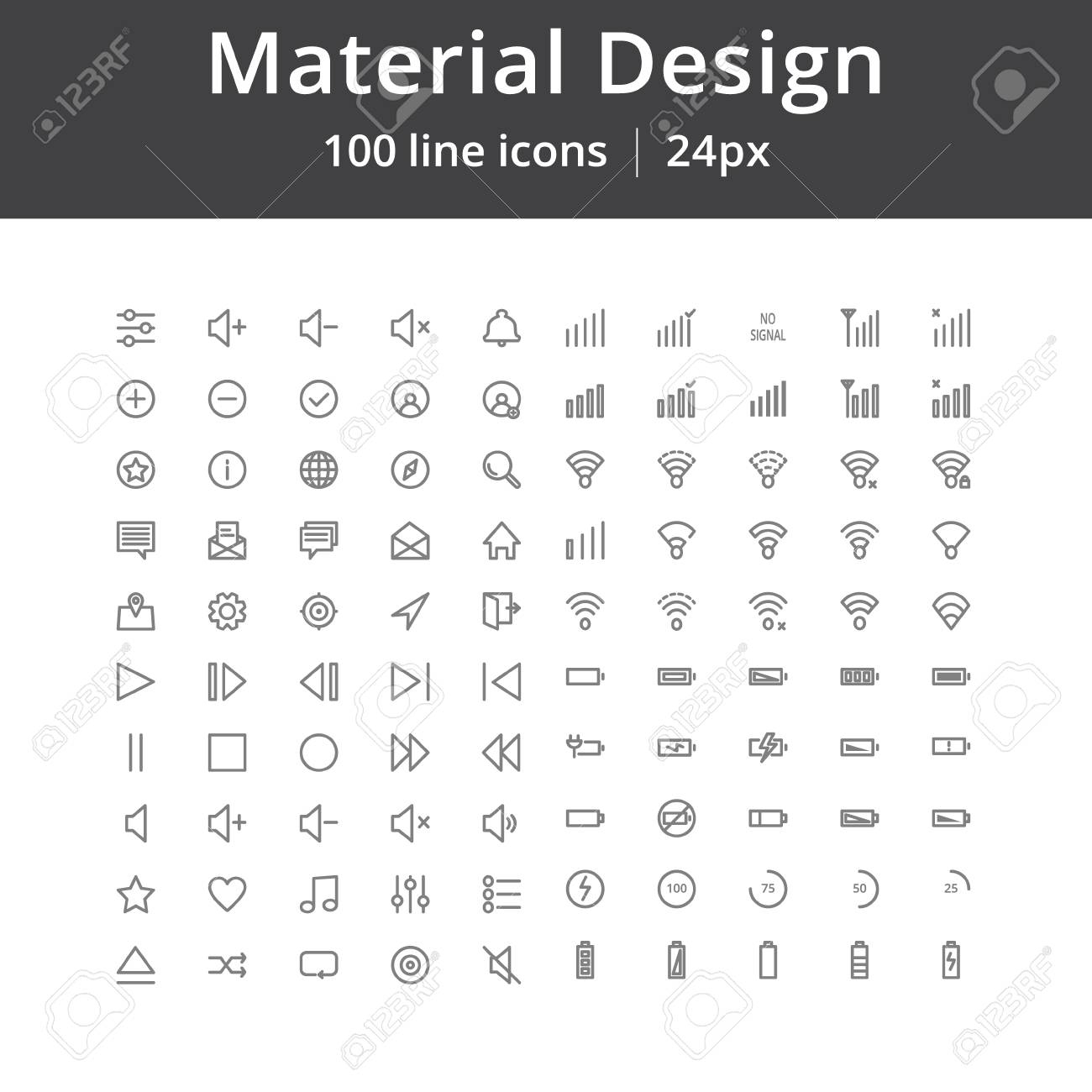 Material Design Ui Line Icons throughout Material Design Calendar Icon