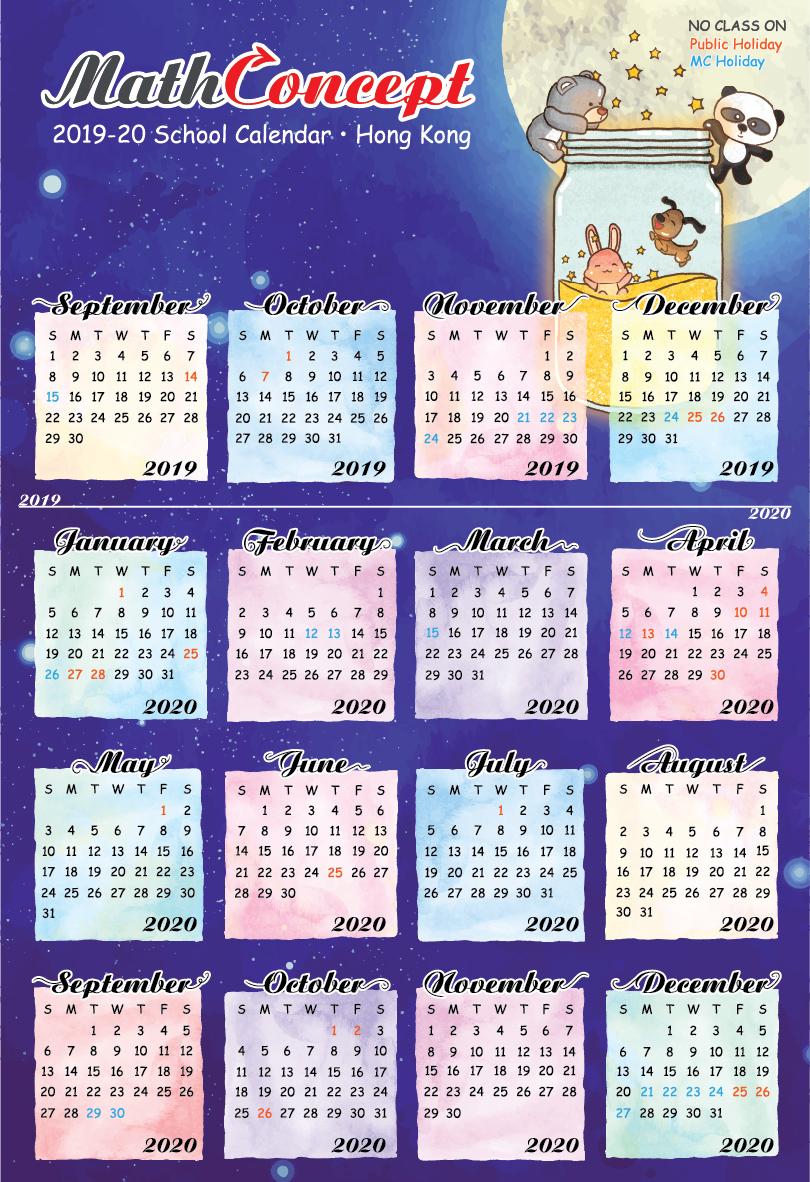 Mathconcept regarding 2020 Hong Kong Calendar Excel