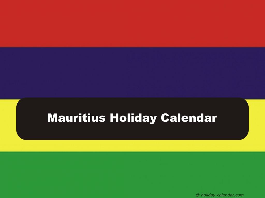 Mauritius 2019  2020 Holiday Calendar with regard to Mauritius School Calendar 2020