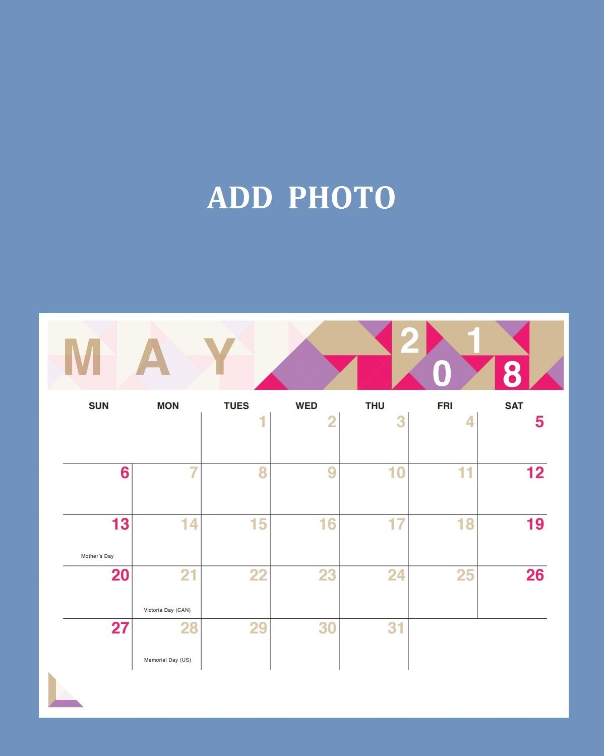 May 2018 Personalized Calendar Free | 2018 Calendar Template within Personalized Calendar Maker Philippines