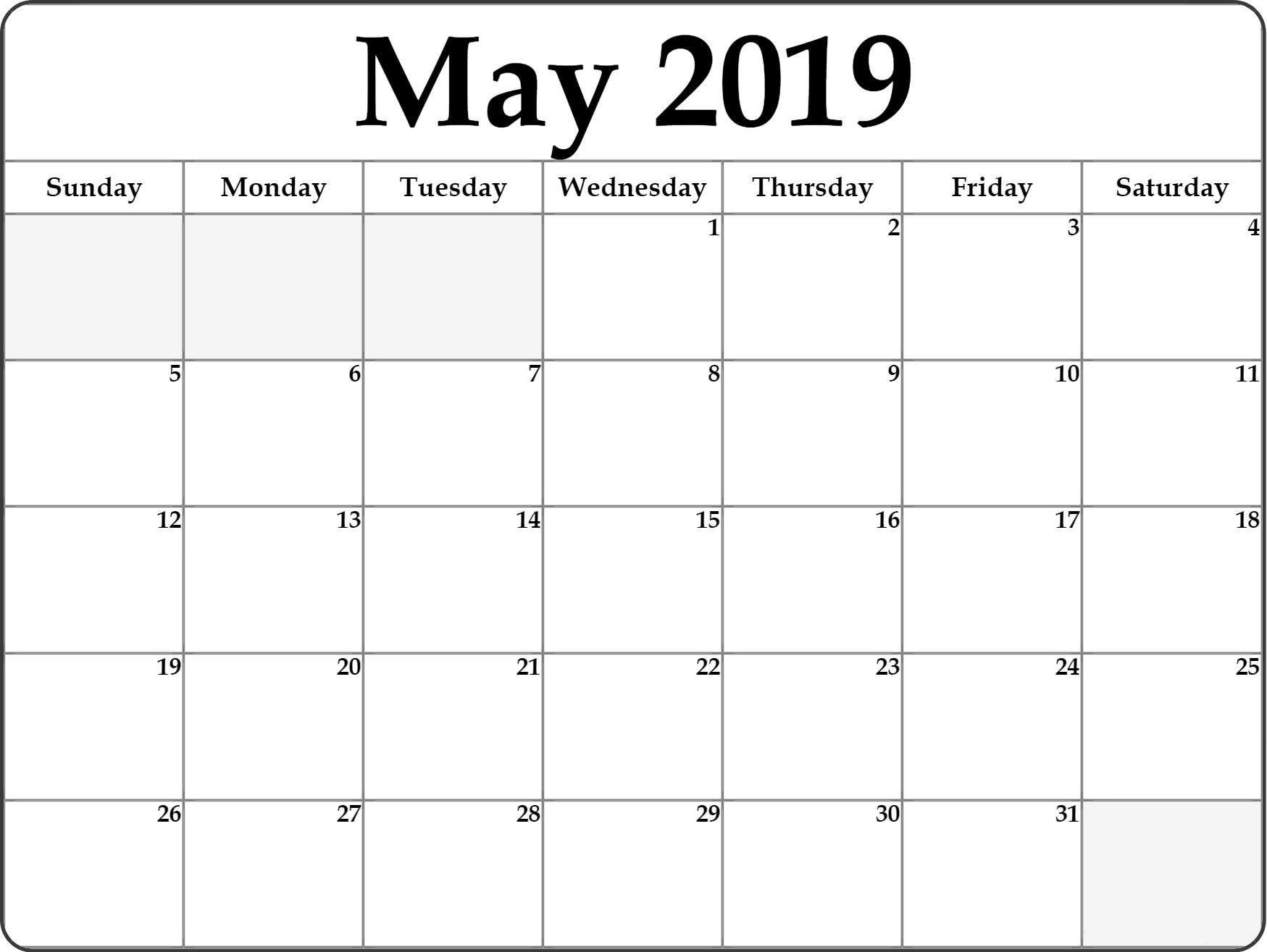May 2019 Blank Calendar #stylish #design | Editable Calendar with regard to Wincalendar April 2020