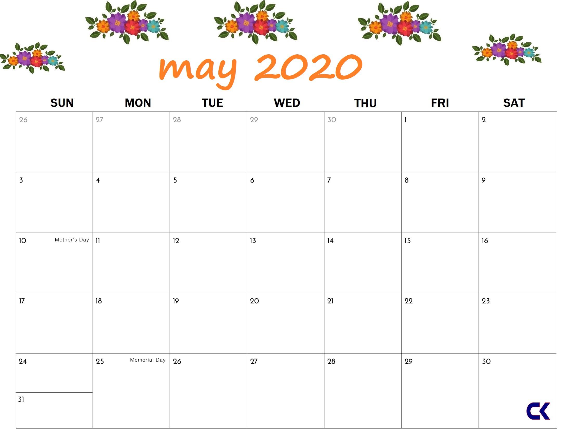 May 2020 Calendar. ⚡ April, May And June 2020 Calendar throughout Wincalendar April 2020
