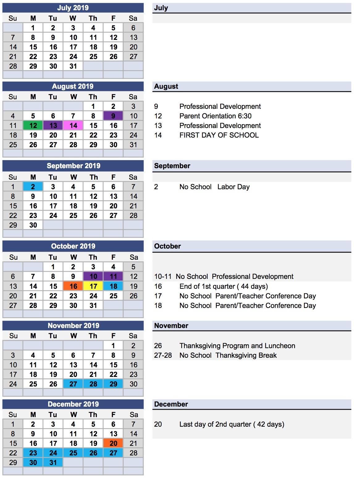 Messiah Lutheran School Year Calendar regarding Nicoma Park Middle School Calendar