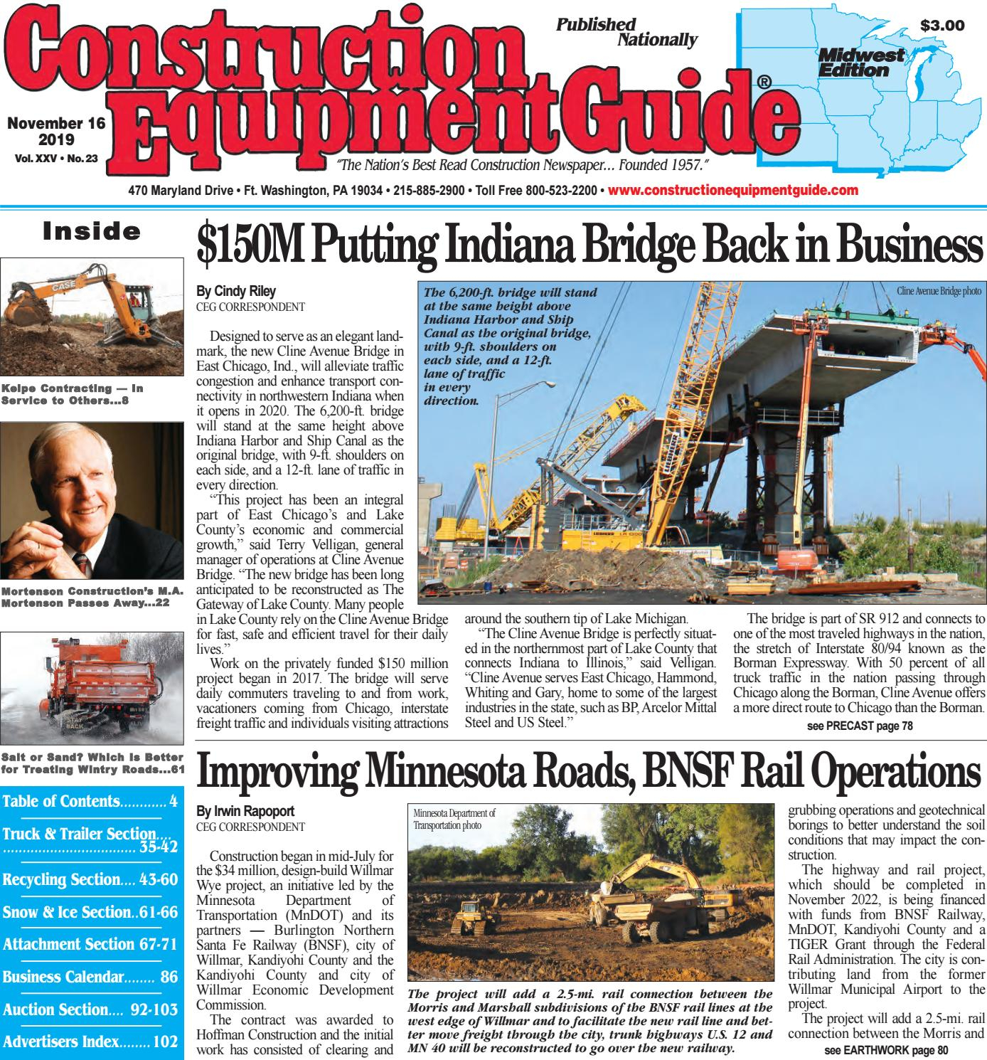 Midwest 23 November 16, 2019 By Construction Equipment Guide within Oilfield Hitch Calendar Excel
