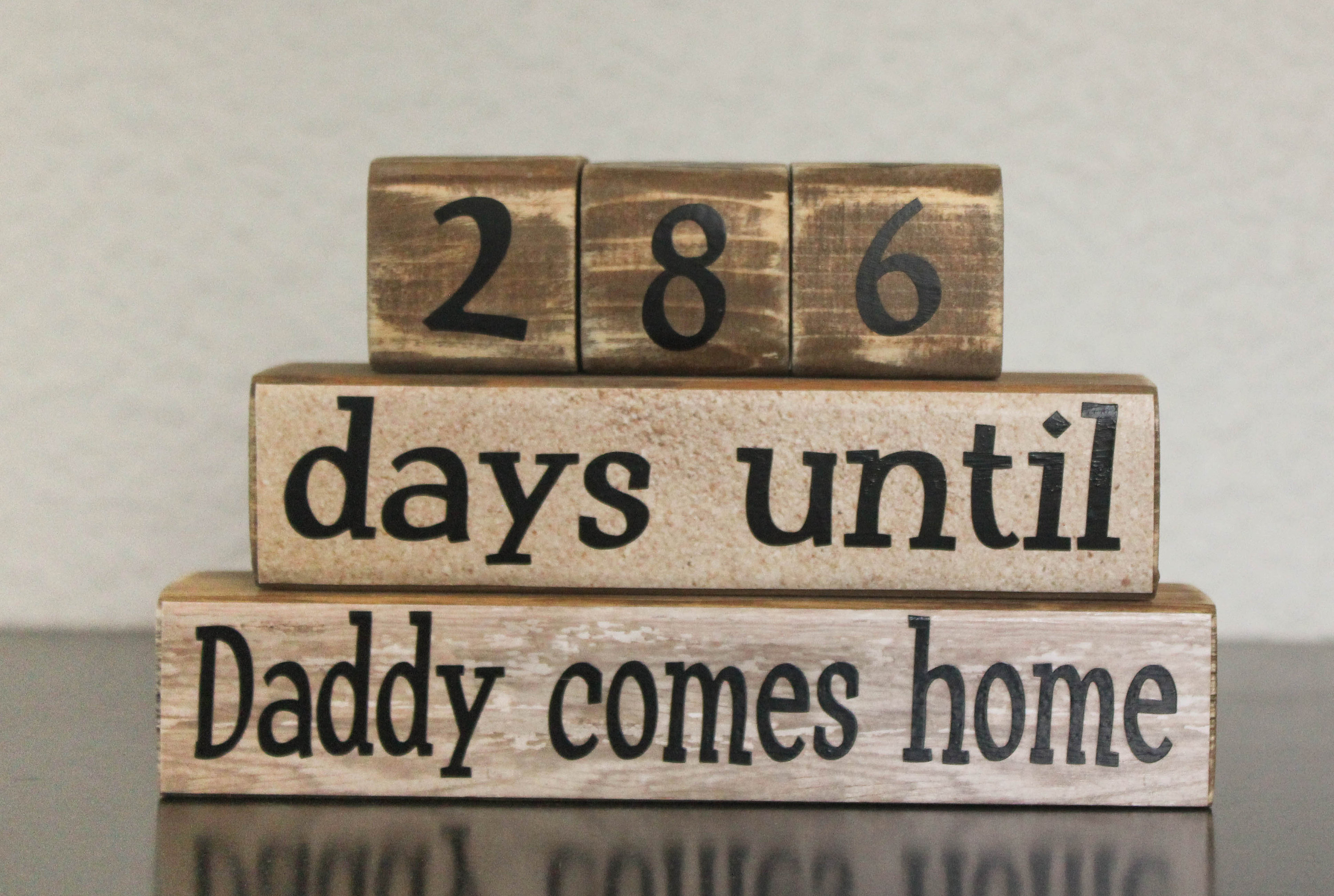 Military Countdown. Days Until Daddy Comes Home. Deployment Countdown  Blocks. Countdown Until Home. Military Calendar throughout Deployment Countdown Calendar