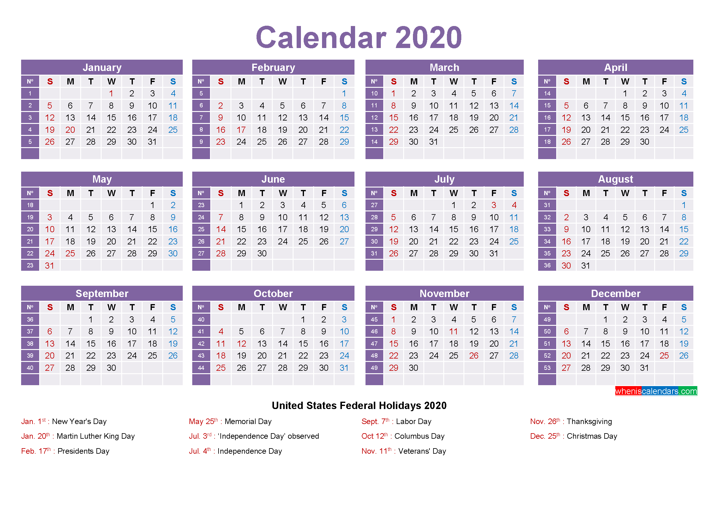 Mini Desk Calendar 2020 Free Printable | Free Printable 2020 regarding Mini Calendar Template