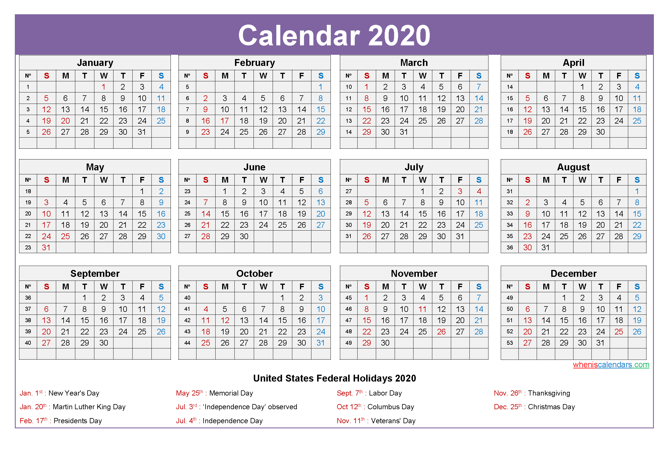 Mini Desk Calendar 2020 Free Printable | Free Printable 2020 within Mini Calendar Template
