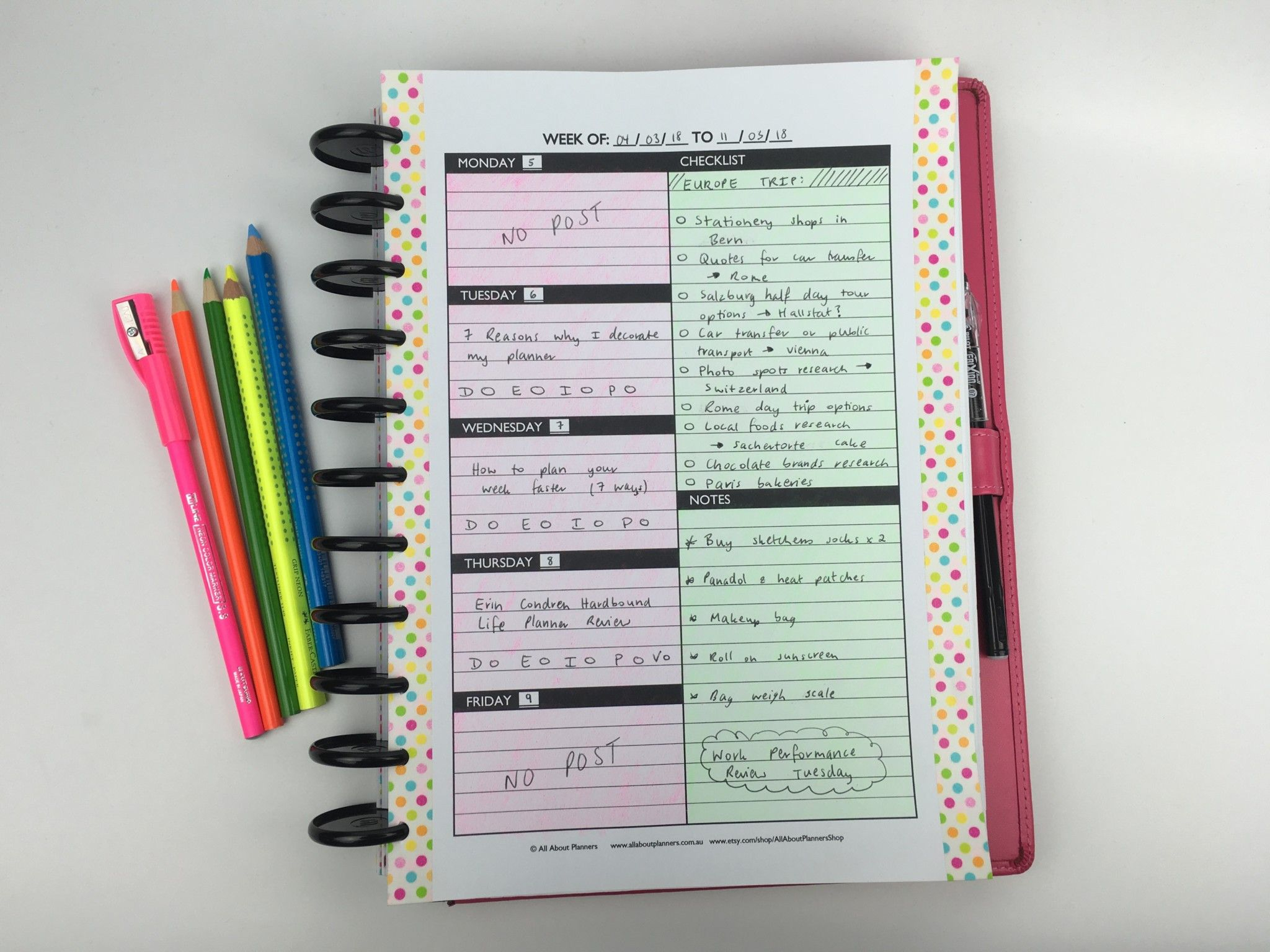 Minimalist Planner Decorating And Color Coding Using Pencils throughout All About Planners