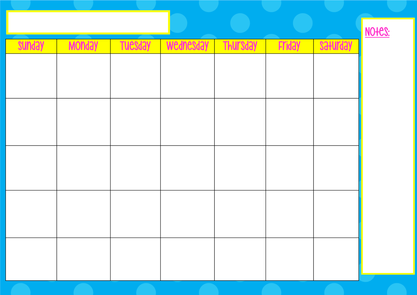 Monday Only Calendar with regard to Monday Through Saturday Schedule Template