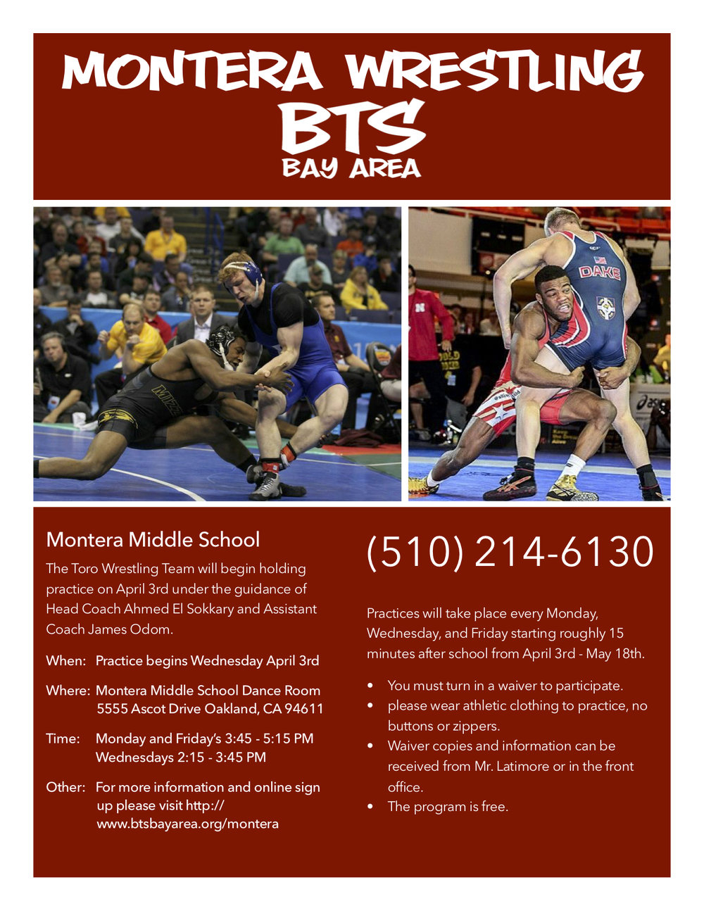 Montera Middle School — Beat The Streets Bay Area inside Montera Middle School Calendar