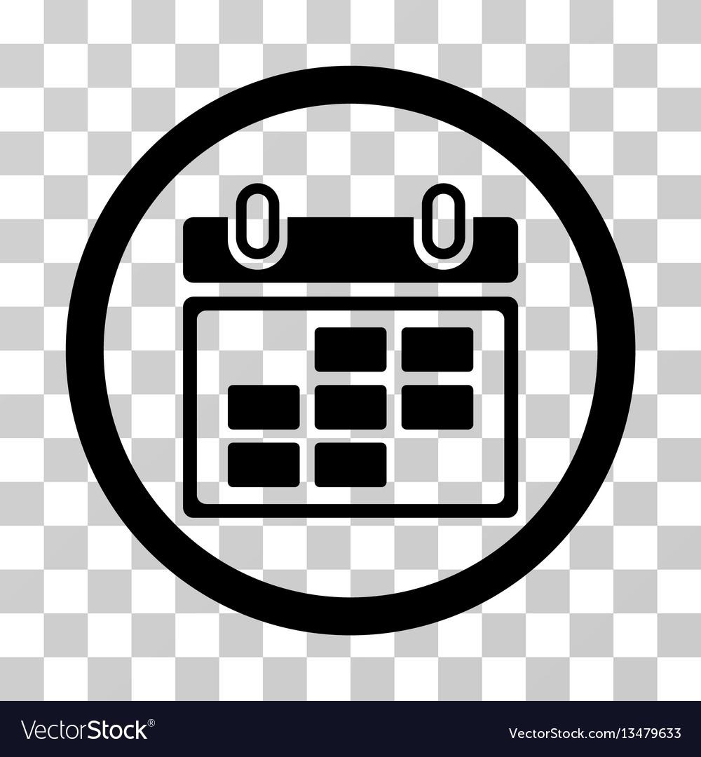 Month Calendar Rounded Icon regarding Calendar Icon Round
