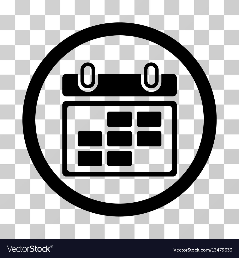 Month Calendar Rounded Icon with Round Calendar Icon