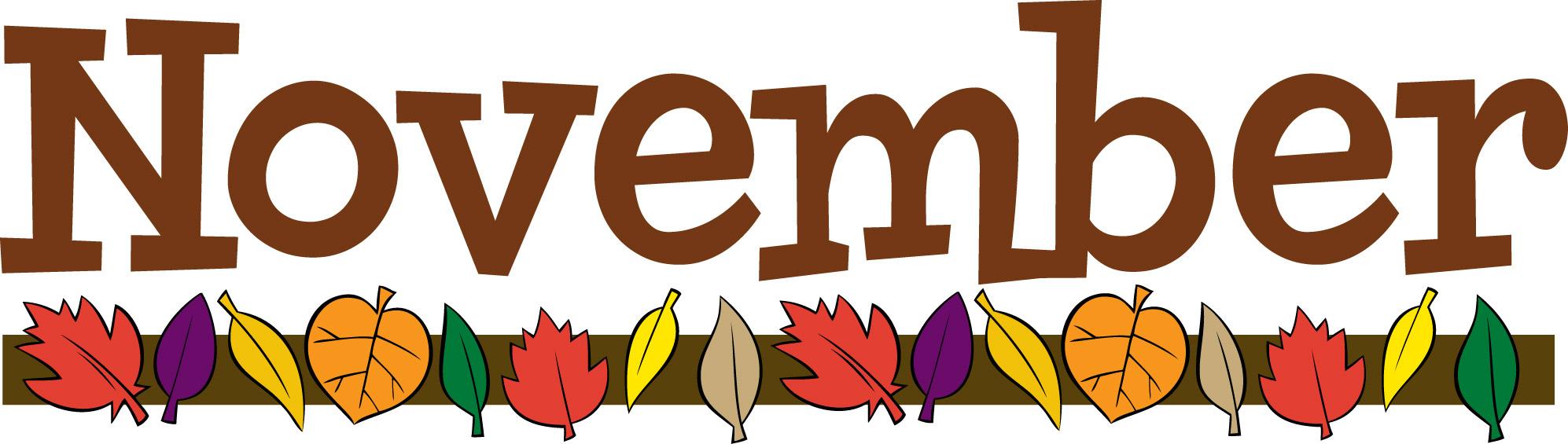 Month November Clipart Free for November Calendar Clipart Free