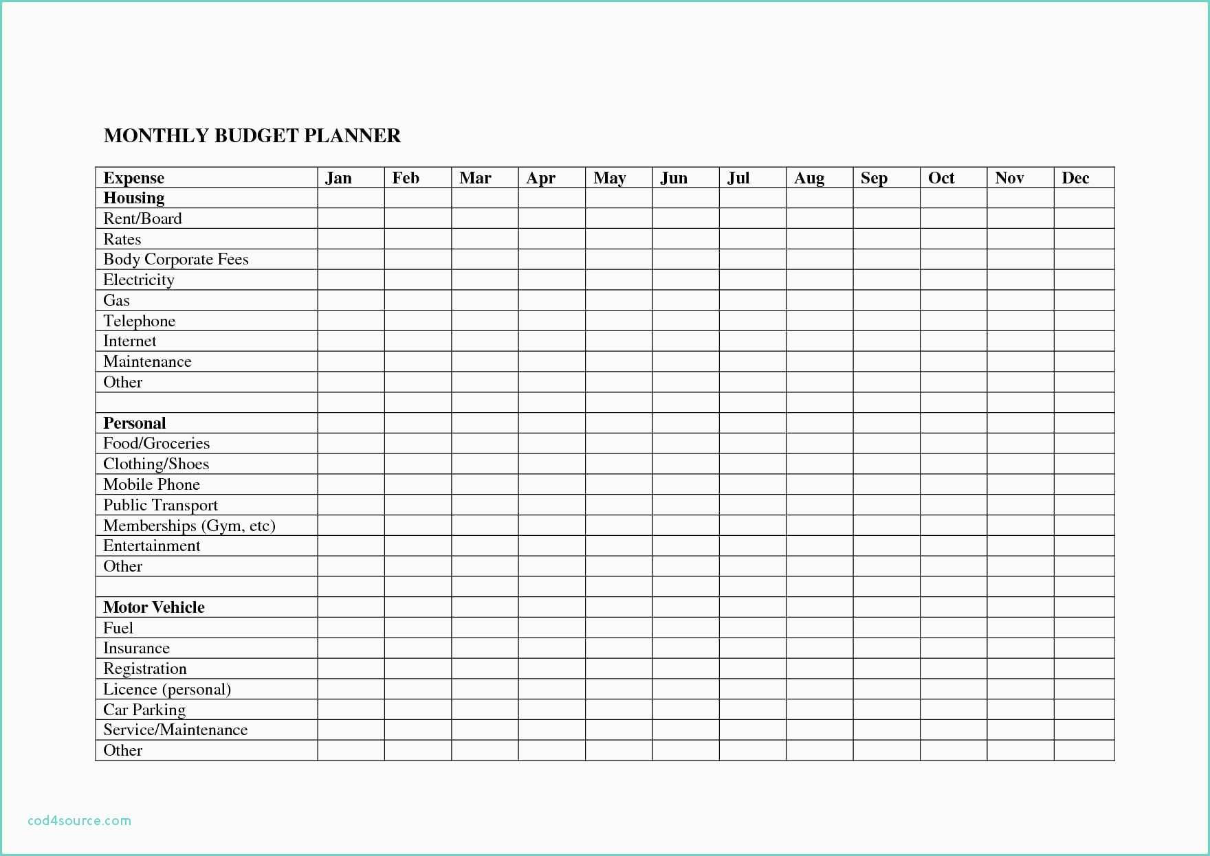 Monthly Bill Budget Spreadsheet Payment Worksheet Bills in Monthly Bill Organizer Template Excel