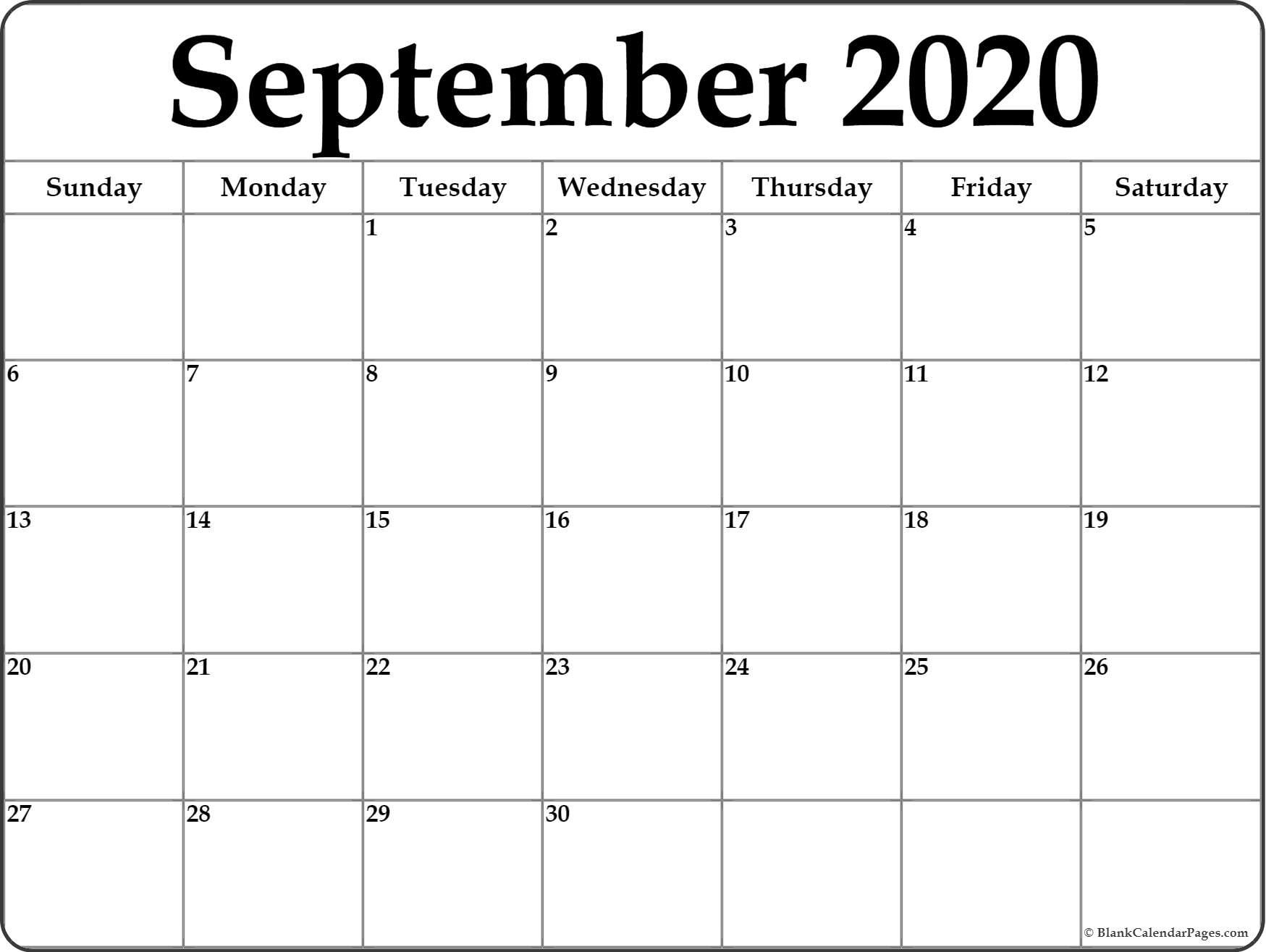 Monthly Calendar For 2020  Yatay.horizonconsulting.co within Monthly Calendar 2020 Printable
