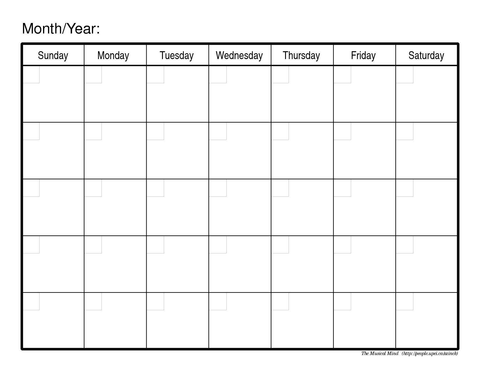 Monthly Calendar Free Printable | Printable Calendar 2014 pertaining to Blank Calendar 2014