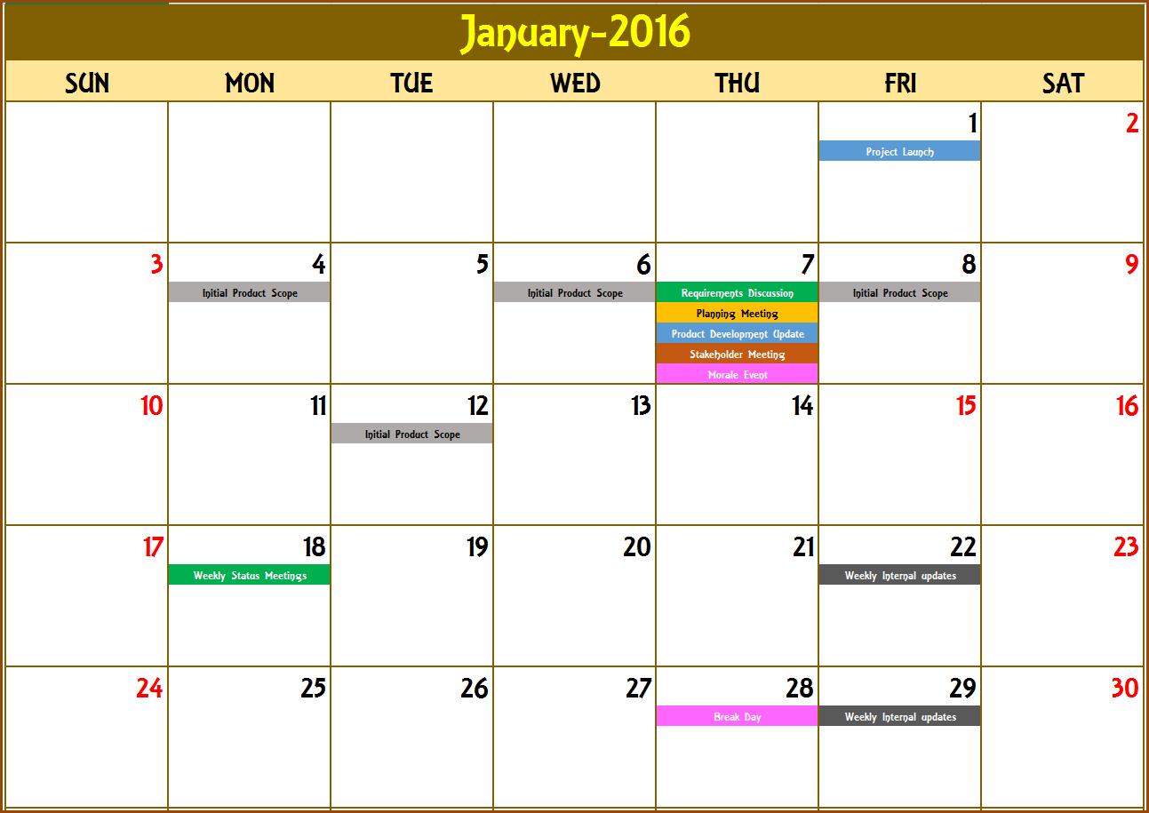 Monthly Calendar Maker – Printable Week Calendar for Calendar Creator Excel