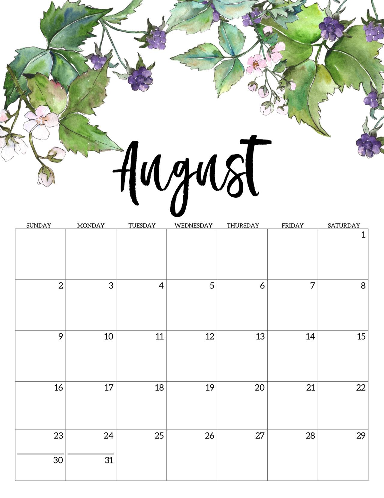 Monthly Printable Calenar intended for Studyblr Calendar 2020