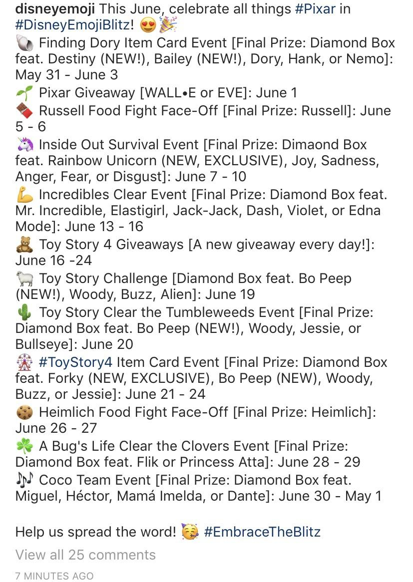 More Detailed Calendar For June : Disneyemojiblitz with regard to Emoji Blitz Calendar