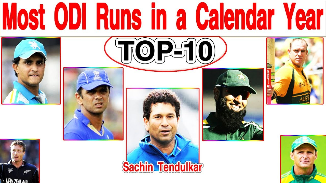 Most Odi Runs In A Calendar Year intended for Most Centuries In Odi In A Calendar Year