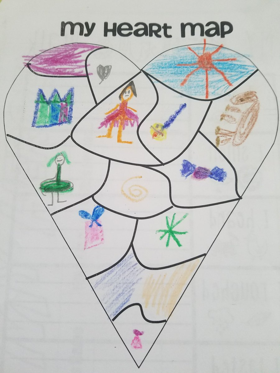 "Ms. Schiers On Twitter: ""continuing Our Writers Workshop with regard to A Few Of My Favorite Things Heart Map"