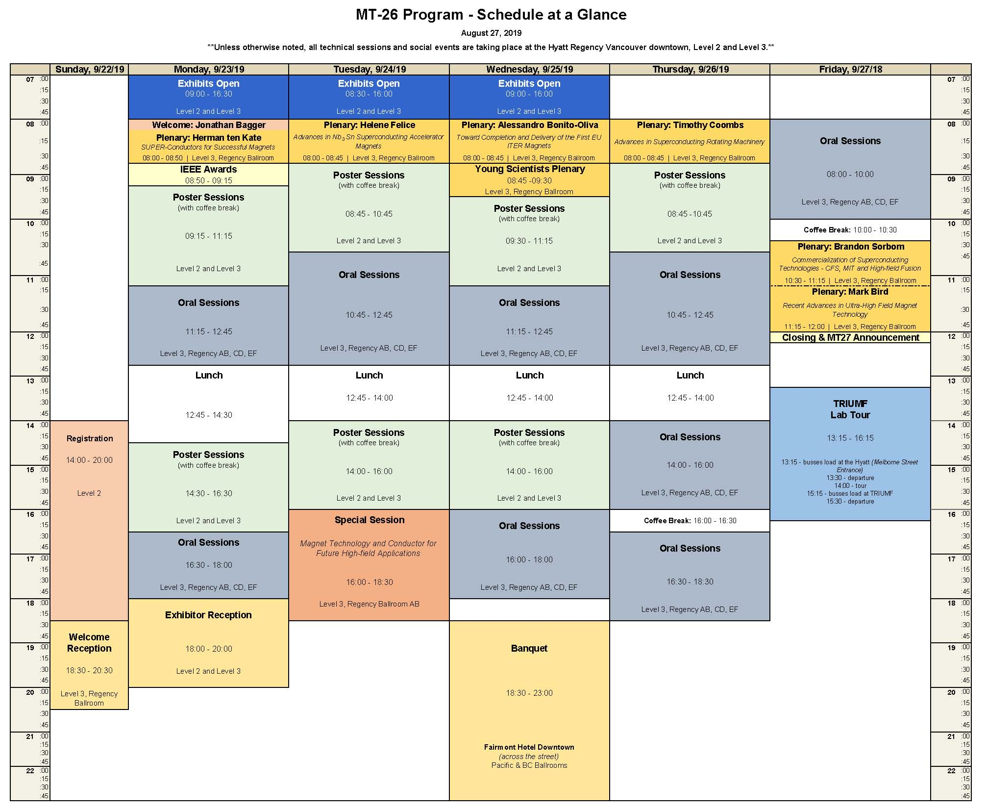 Mt26 Abstracts, Timetable And Presentations (2227 September within Offshore Rotation Calendar
