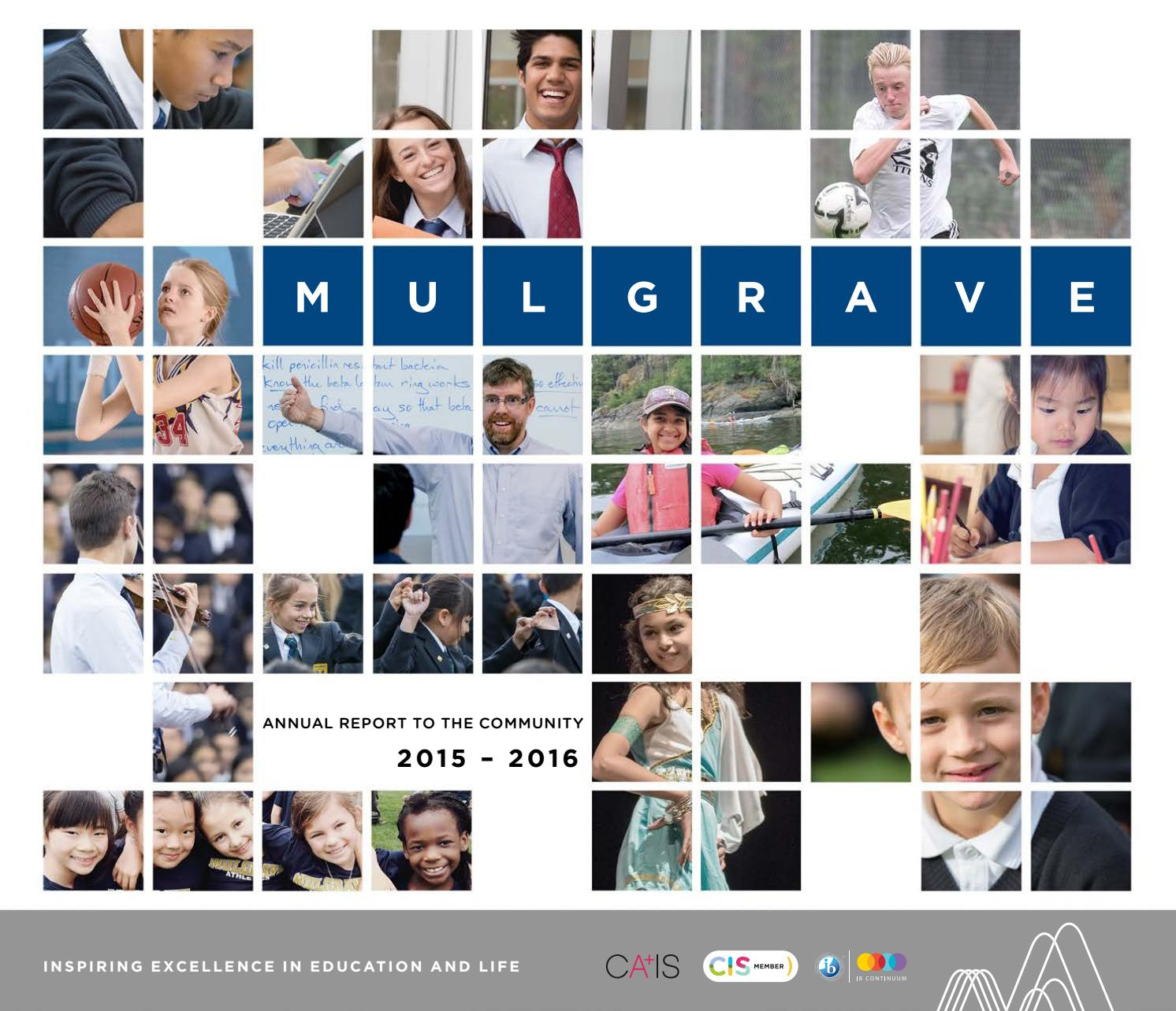 Mulgrave Annual Report 20152016 By Mulgrave School  Issuu intended for Mulgrave School Calendar