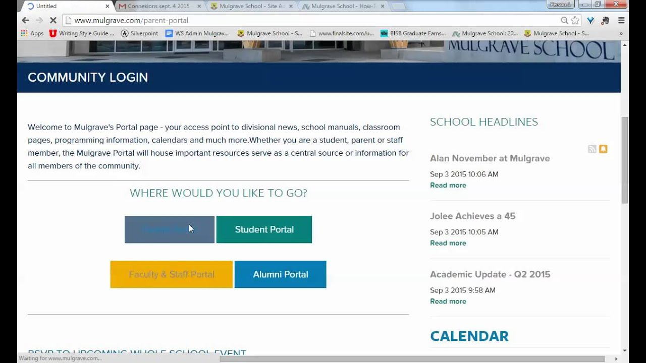 Mulgrave School  How To Login To The Mulgrave Portals throughout Mulgrave School Calendar