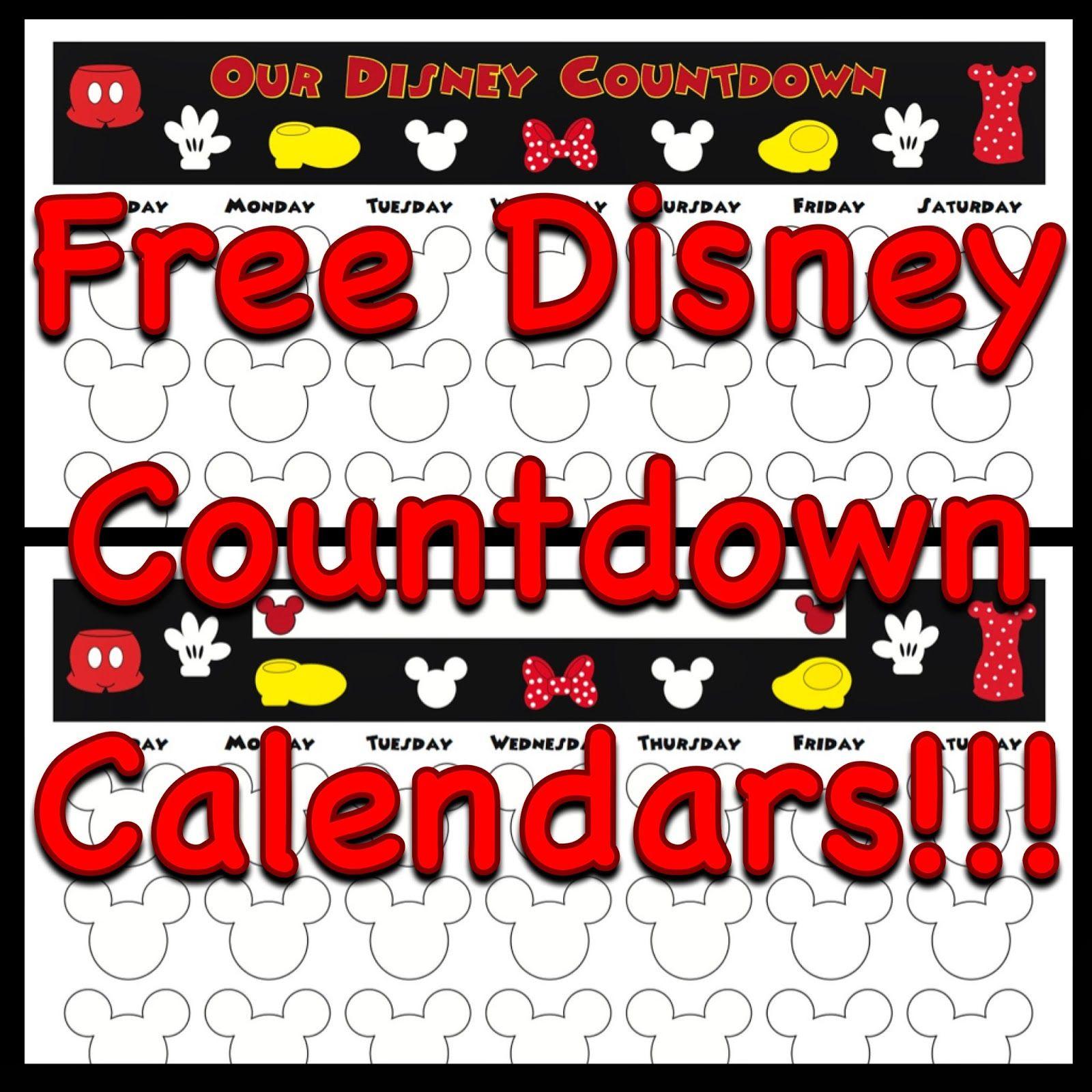 My Disney Life: Countdown Calendars | Disneyland  Usa within Disney World Countdown Calendar Printable