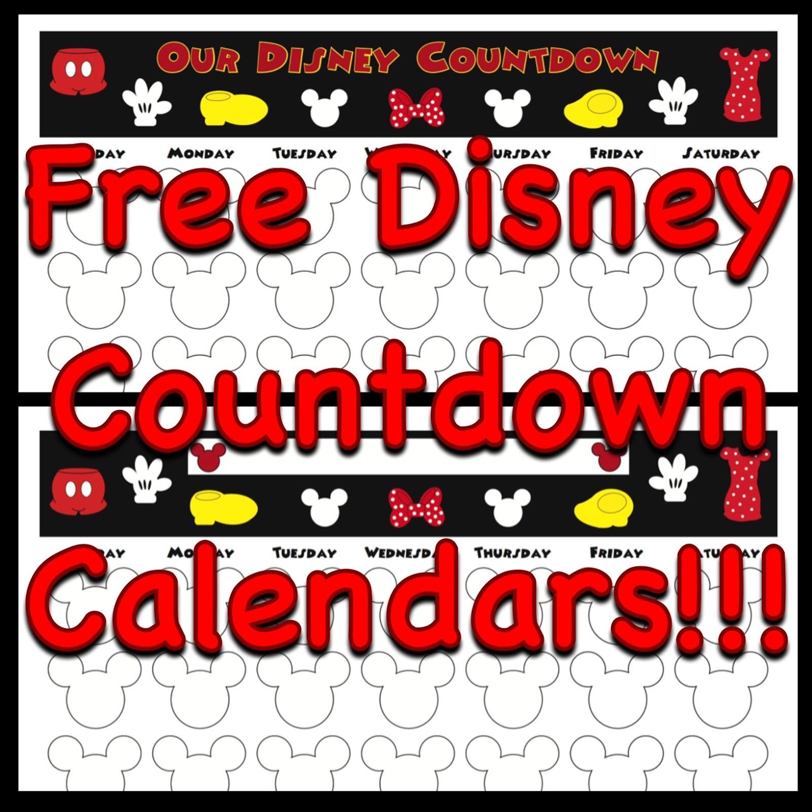 My Disney Life: Countdown Calendars regarding Make A Countdown Calendar Printable