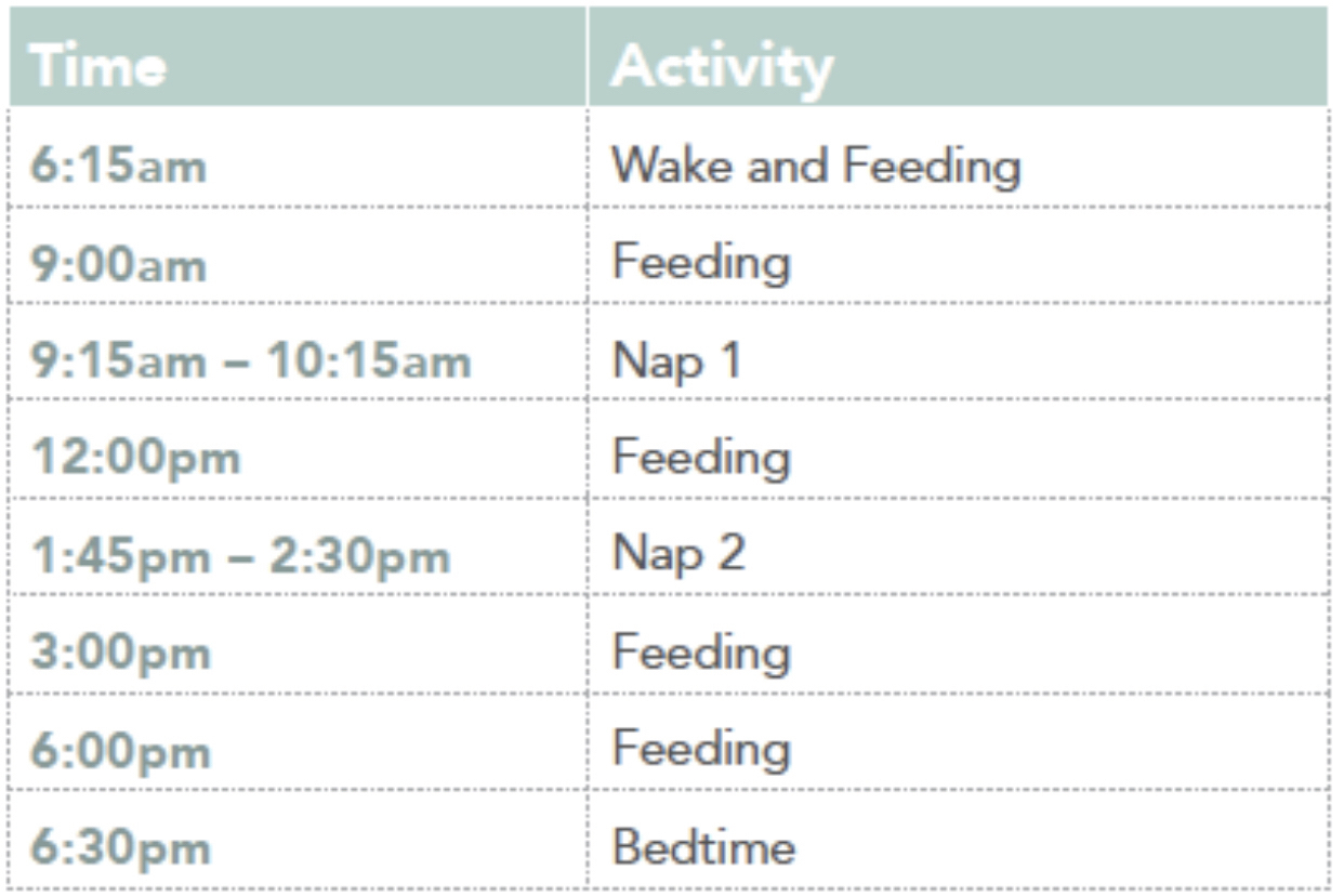 Nap Schedules: 5 Months To 25 Months – Taking Cara Babies intended for 12 Hours By 12 Weeks Pdf