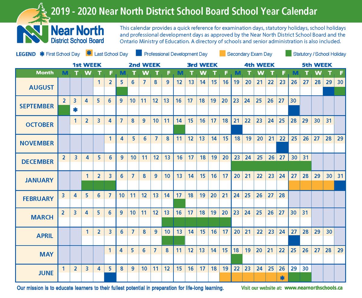 Near North Schools (@nearnorthschool) | Twitter pertaining to Near North District School Board Calendar