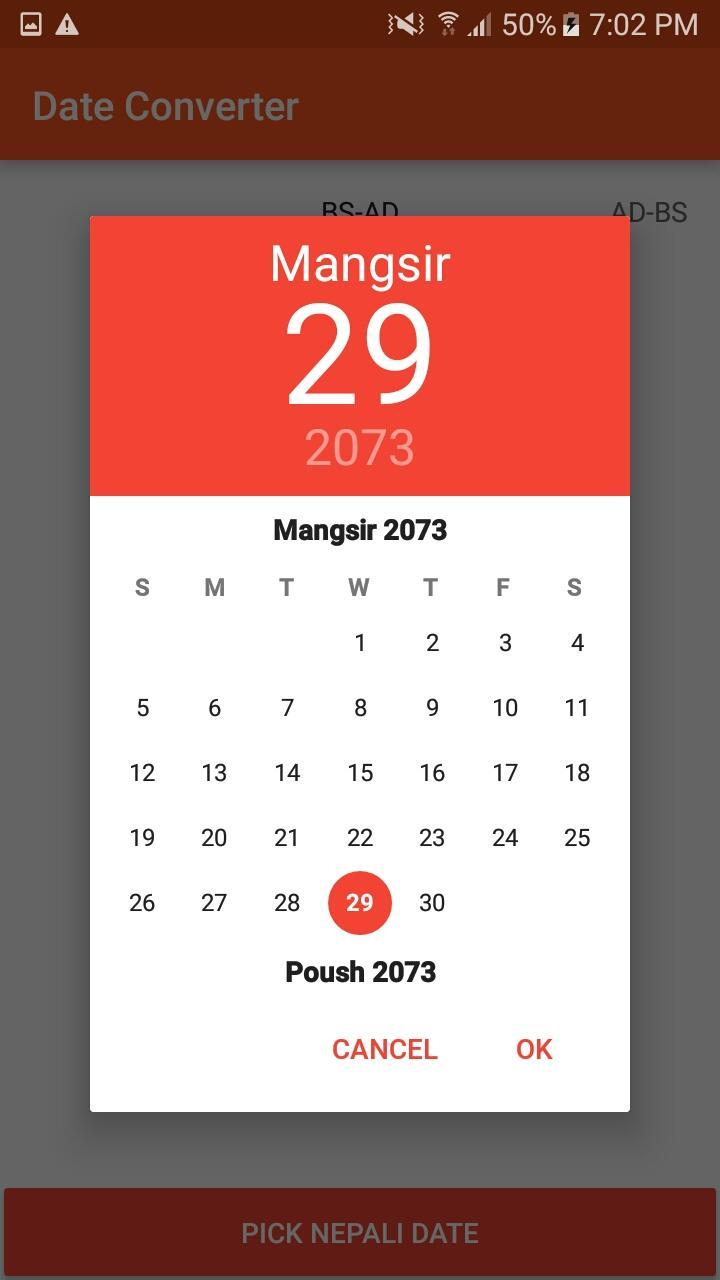 Nepali Date Converter For Android  Apk Download in Nepali Date Picker