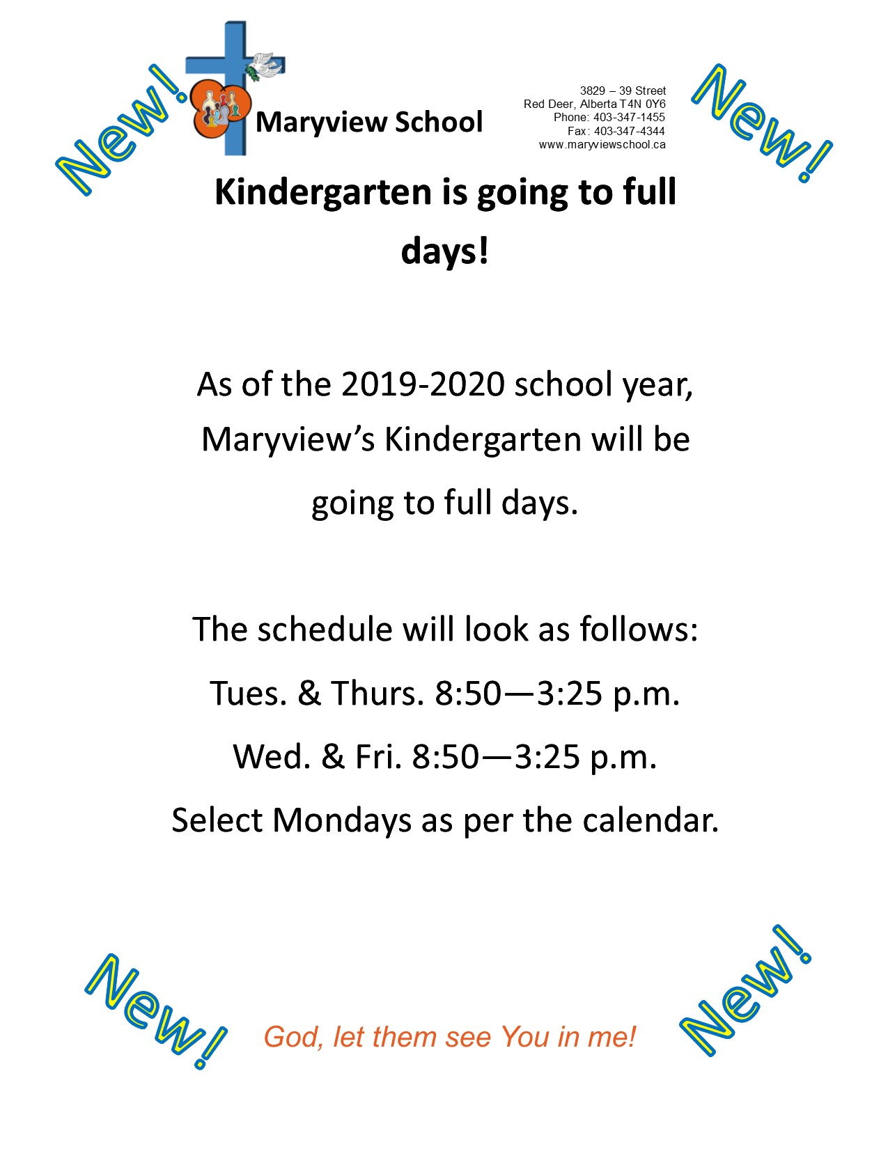 News About Maryview's Kindergarten | Maryview School intended for Red Deer School Calendar