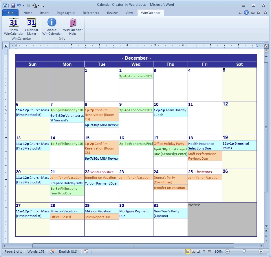 Nice Free Calendar Program For Windows 7 : Mini Calendar within Calendar Creator For Windows 10
