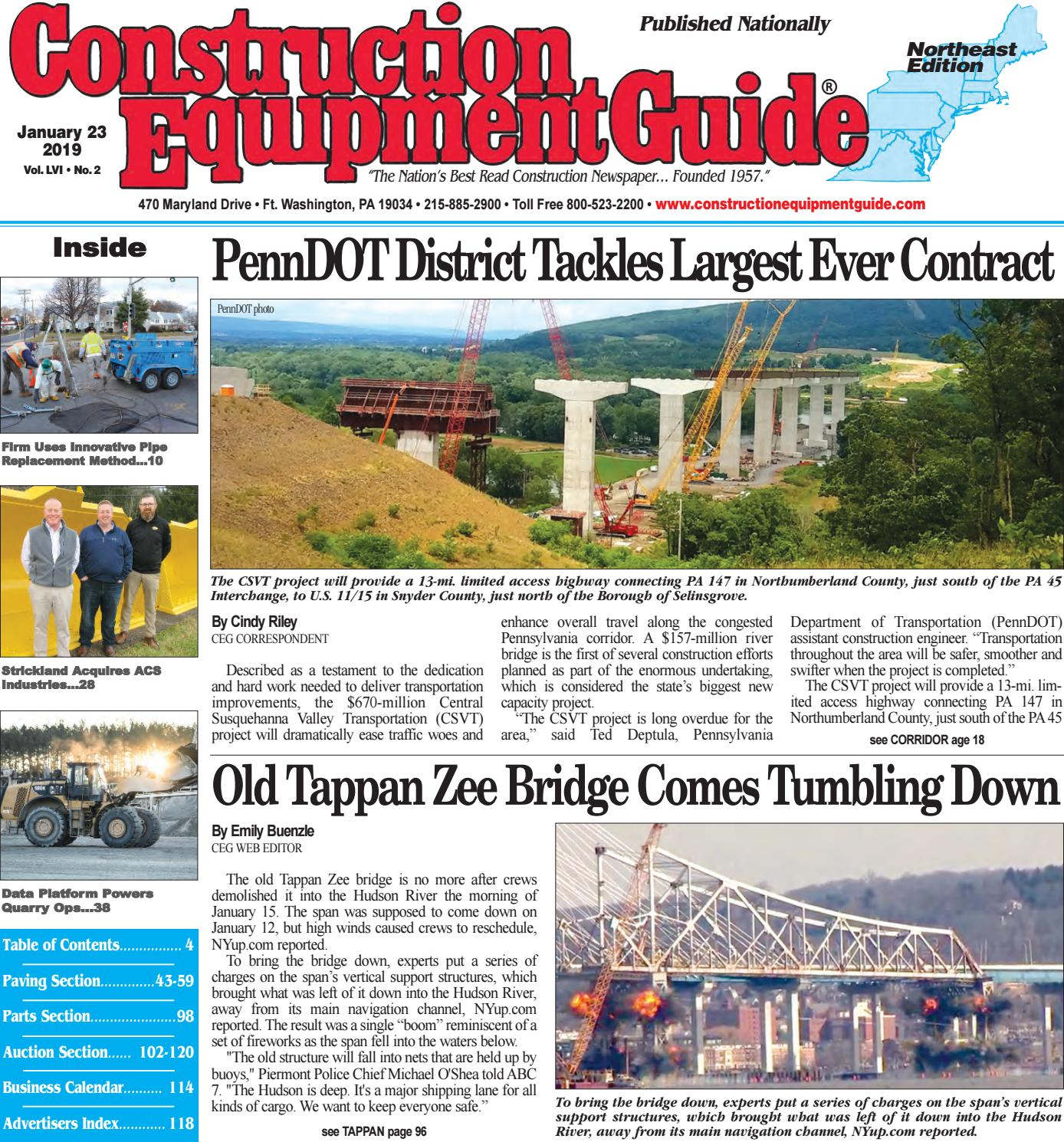 Northeast 2 January 23, 2019 By Construction Equipment Guide intended for Oilfield Hitch Calendar Excel