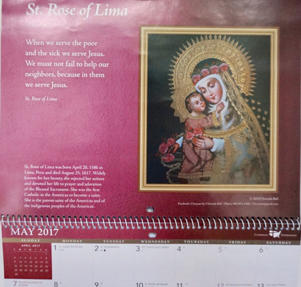 Noteworthy – Clory's Gallery inside Catholic Extension Calendar