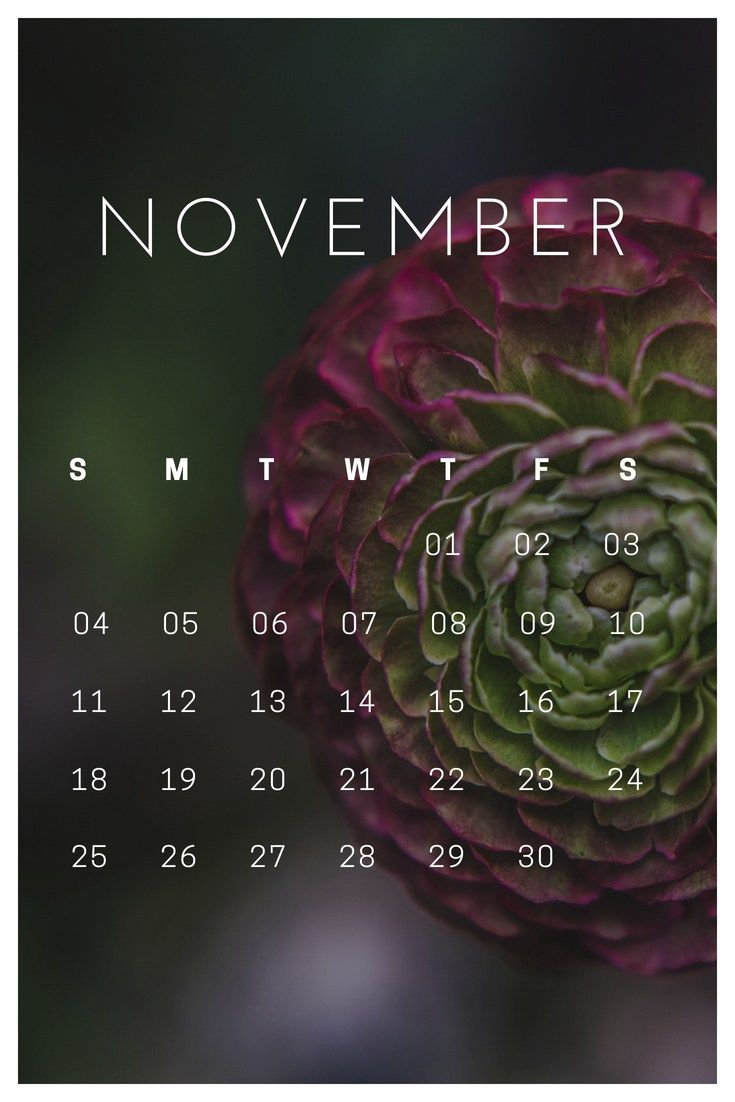 November 2018 Iphone Lock Screen Wallpaper | Lock Screen regarding Iphone Lock Screen Calendar
