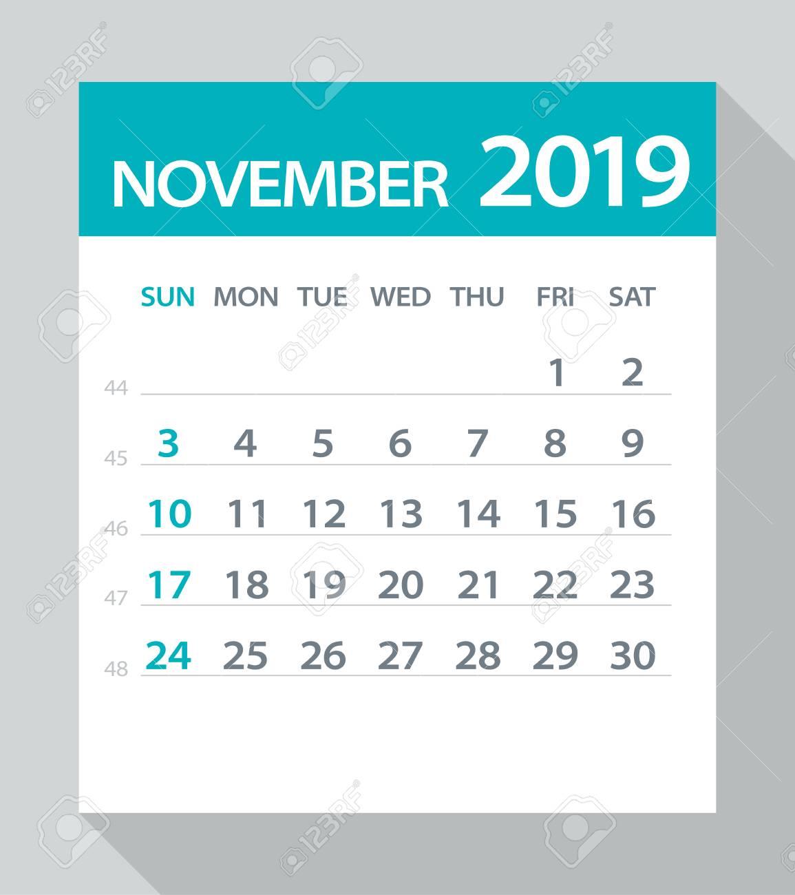 November 2019 Calendar Clipart  Yatay.horizonconsulting.co within November Calendar Clipart Free